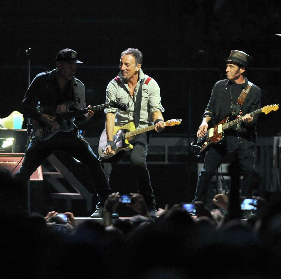 Bruce Springsteen, center, and The E Street Band perform at the Times Union Center on Tuesday May 13, 2014 in Albany, N.Y. (Michael P. Farrell/Times Union)
