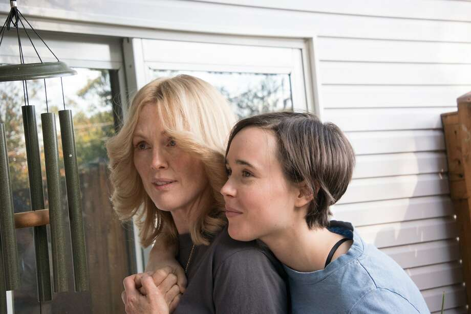 "In ""Freeheld,"" Julianne Moore (left) is a terminally ill woman who fights for the right of her domestic partner, played by Ellen Page, to collect her pension. Photo: Phil Caruso, Associated Press"