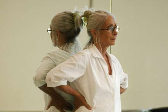 Choreographer Twyla Tharp rehearses her dancers in New York for her 50th anniversary tour which stops at Berkeley's Zellerbach Hall Friday, Oct. 16, through Sunday, Oct 18, a Cal Performances presentation,   photo by Marc Van Borstel