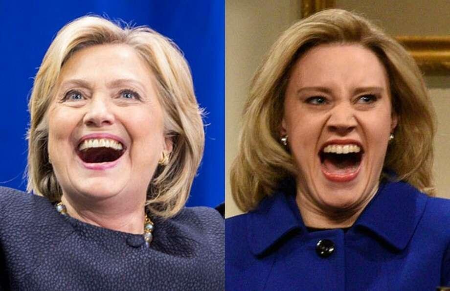 Left: Hillary ClintonRight: 'SNL' Star Kate McKinnon