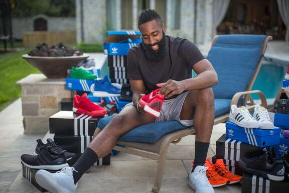 Rockets star James Harden's new shoe contract with Adidas kicked in Oct. 1.