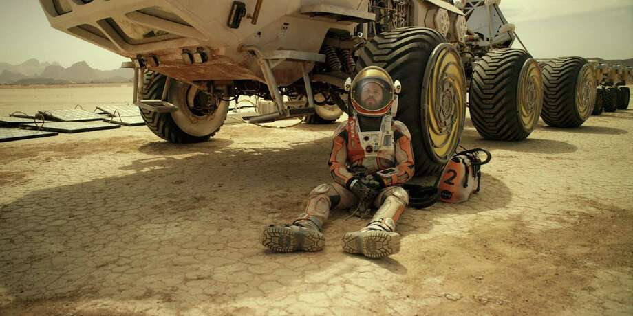 "This photo released by 20th Century Fox shows Matt Damon in a scene from the film, ""The Martian.""  (20th Century Fox via AP) ORG XMIT: CAET385 / 20th Century Fox"