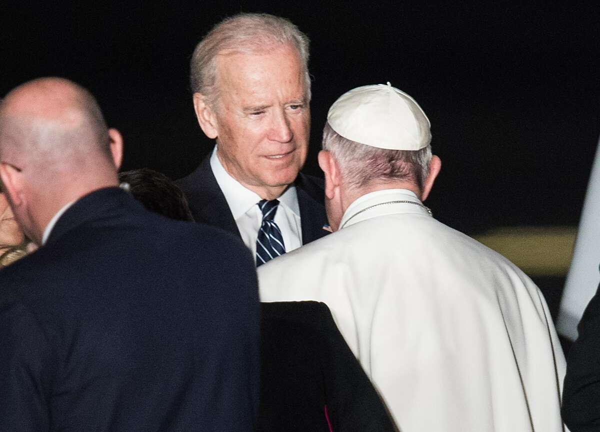 Vice President Joe Biden bids farewell to Pope Francis at the end of his six-day visit to the U.S. A reader says Biden would have his vote in the presidential election.