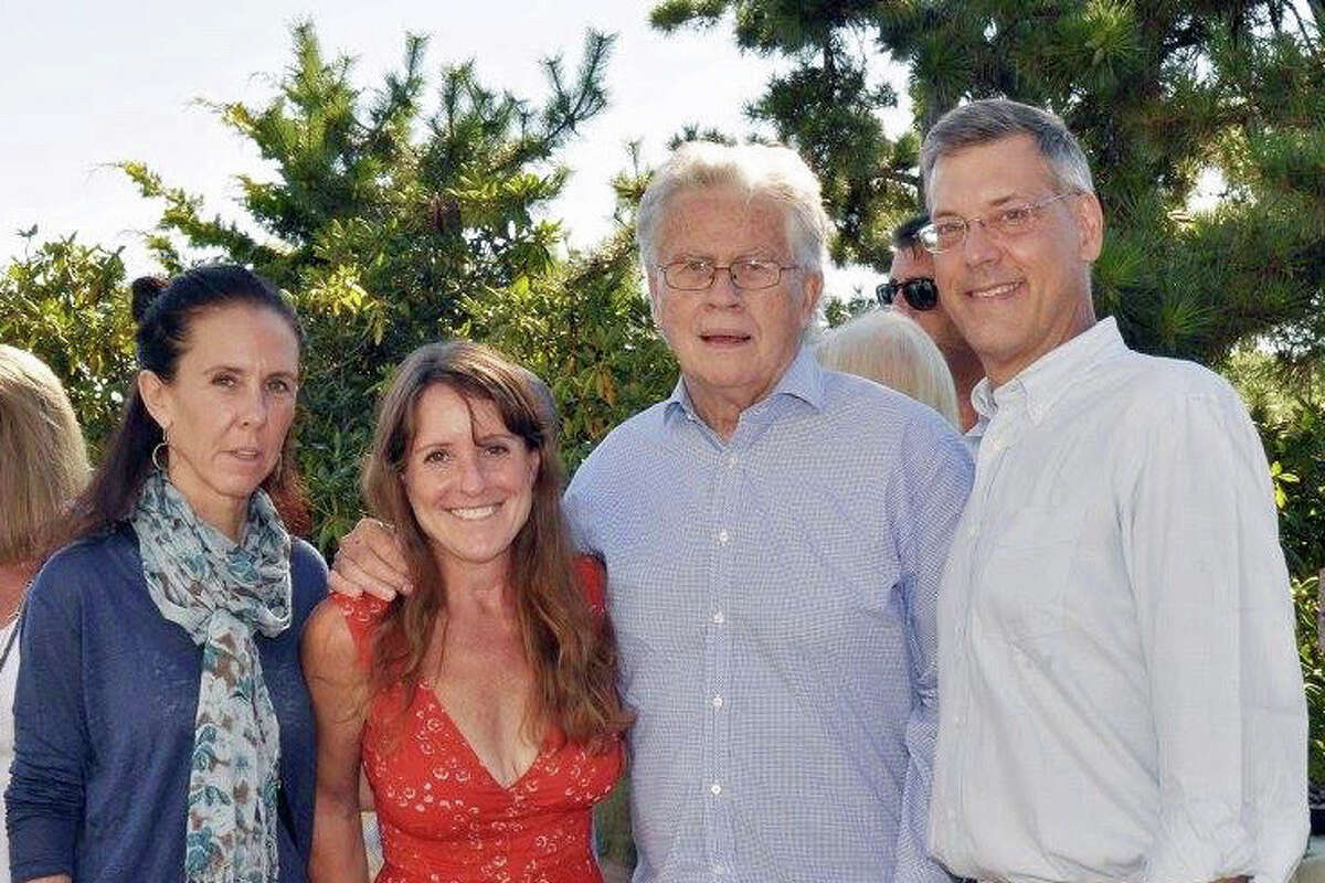 """From left: Ronnie Maher, of Nicaragua; Susie De Rafelo, of Greenwich; Wendell Minnick, of Greenwich; and Jim Luce, of New York. Susie De Rafelo and Jan Ivarsson, of Greenwich, celebrated 15 years of Orphans International Worldwide with a seaside garden party at the home of Karin and Lennart Mengwall in Darien. The party was the final event of the group's national fund- and awareness-raising campaign of the summer. It featured Jim Luce, founder of the group and the James Jay Dudley Luce Foundation. Luce, who writes the Stewardship Report and its corresponding column in the Huffington Post, said all proceeds from the event will go to Next Generation Nepal, a United States-based charity that works to reform orphanage practices in Nepal. Conor Grennan, author of """"Little Princes: One Man's Promise to Bring Home the Lost Children of Nepal."""" and founder of Next Generation Nepal represented the organization at the event."""