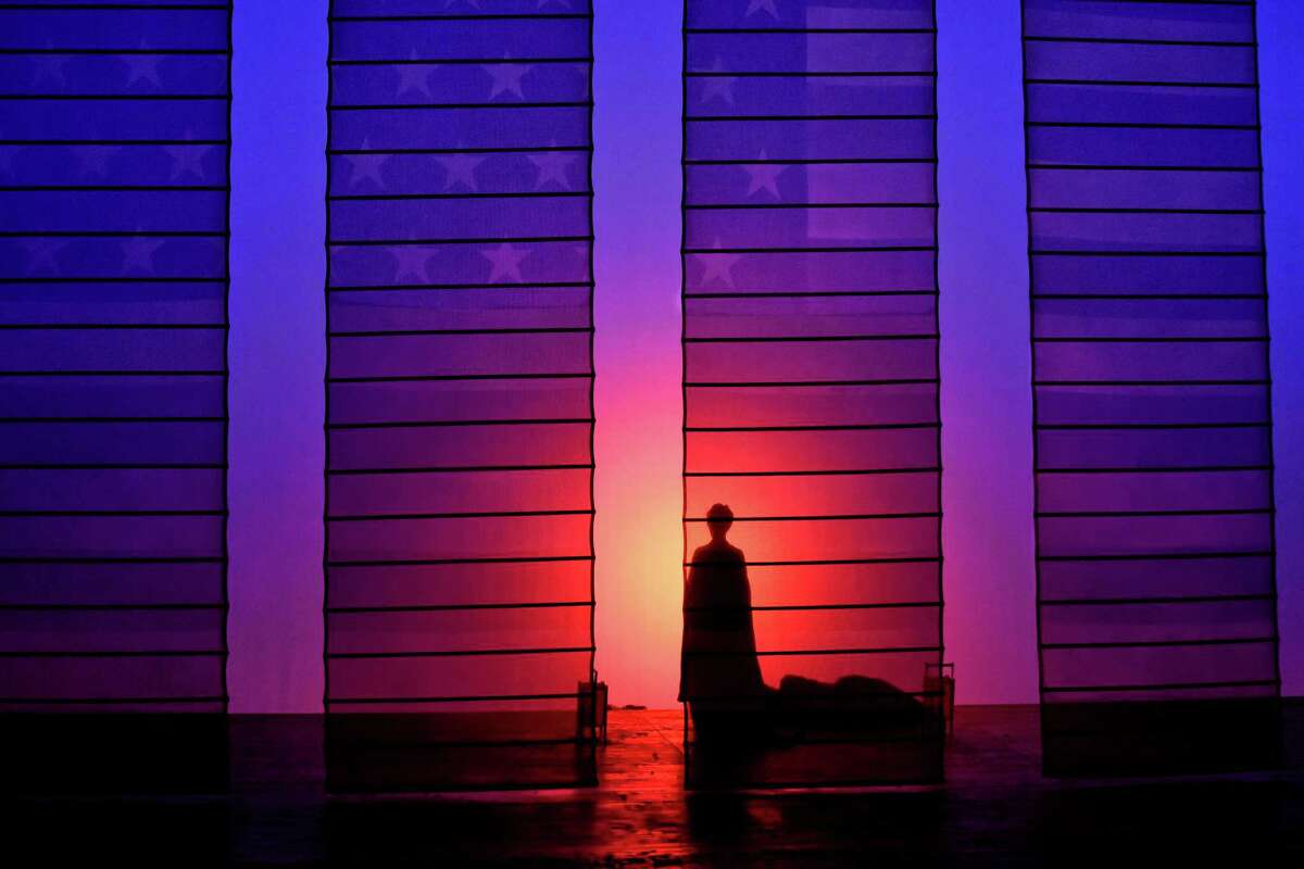 The set for the Opera San Antonio production of Giacomo Puccini's
