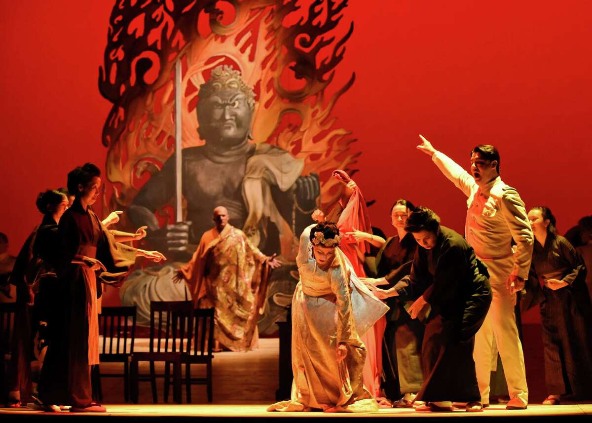 1.Soprano Maria Kanyova, center, stars as Madama Butterfly in Giacomo Puccini's opera in the Opera San Antonio production Thursday and Saturday at the Tobin Center for the Performing Arts.