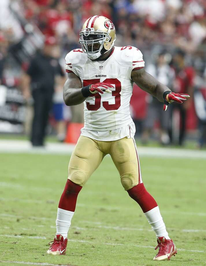 San Francisco 49ers inside linebacker NaVorro Bowman (53) against the Arizona Cardinals during the first half of an NFL football game, Sunday, Sept. 27, 2015, in Glendale, Ariz.  (AP Photo/Rick Scuteri) Photo: Rick Scuteri, Associated Press
