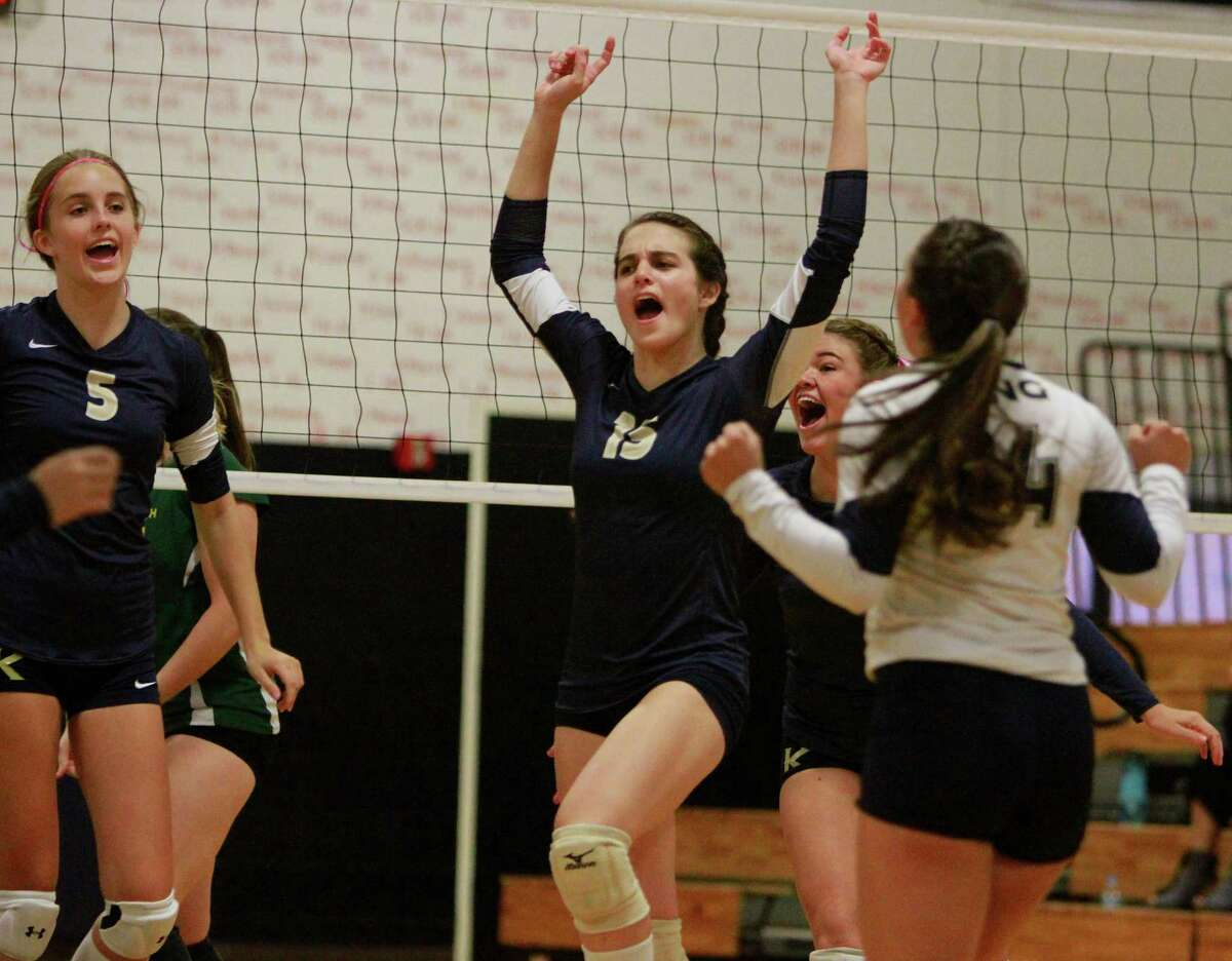 King hosted Greenwich Academy in a girls varsity volleyball match on Thursday, Oct. 1, 2015 in Stamford.