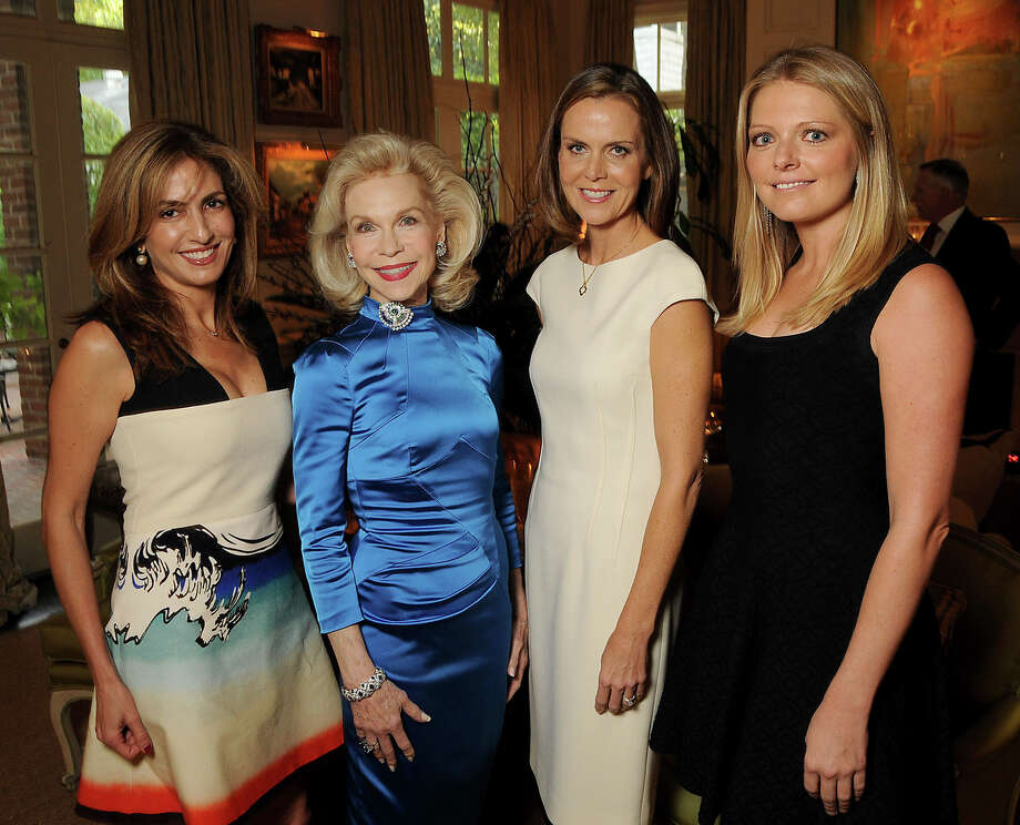 From left: Sima Ladjevardian, Lynn Wyatt, Suzy Biszantz and Ashley Klauss at the La Perla Houston Boutique Opening Champagne Reception at Wyatt's home. Photo: Dave Rossman, Freelance / Freelalnce