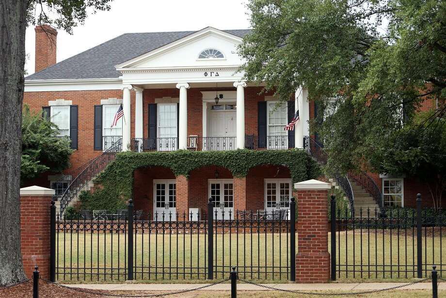 The University of Alabama Phi Gamma Delta fraternity is being investigated after hazing allegations were reported. Four of their members have been charged with various crimes, including counts of hazing and misdemeanors. Photo: Michelle Lepianka Carter,  Tuscaloosa News