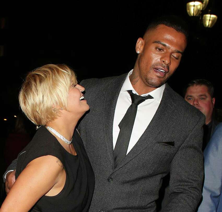 Rejected! ... Kerry Katona and George Kay at the Reality TV awards on September 30, 2015 in London, England. (Photo by Mark Robert Milan/GC Images)