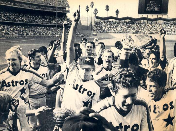 1980    The Astros held a three-game lead entering their final series at Los Angeles, but were swept in the three-game set by the Dodgers to force a one-game playoff for the NL West title. Joe Niekro tossed a six-hit complete game and struck out six in the 7-1 win that punched Houston's first playoff appearance.