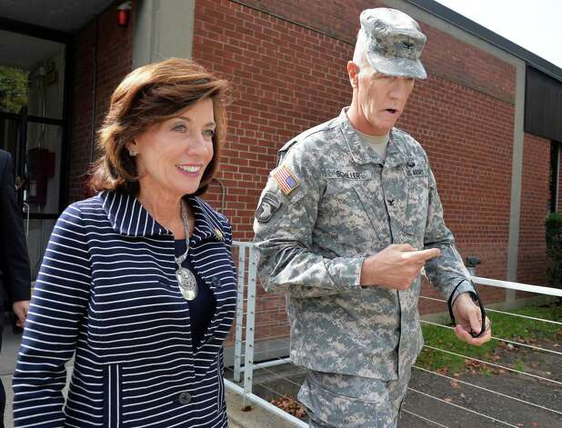 Lt. Gov. Kathy Hochul tours of the Watervliet Arsenal with its commander, Colonel Lee H. Schiller Thursday Oct. 1, 2015 in Watervliet, NY. (John Carl D'Annibale / Times Union) Photo: John Carl D'Annibale / 10033580A