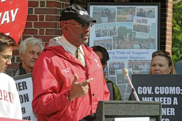 Sierra Club National Board of Directors President Aaron Mair speaks during a press conference and protest on the state of the GE Hudson River PCB cleanup on Thursday Oct. 1, 2015, at Saratoga Spa State Park in Saratoga Springs , N.Y.  (Michael P. Farrell/Times Union) Photo: Michael P. Farrell / 10033572A