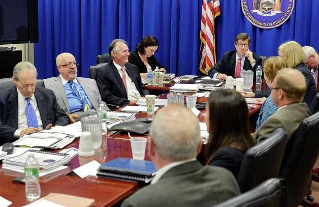 Daniel Horwitz, top right, chairs a regular meeting of JCOPE commissioners Tuesday Aug. 4, 2015, in Albanuy, N.Y.  (John Carl D'Annibale / Times Union archive) Photo: John Carl D'Annibale / 10032880A