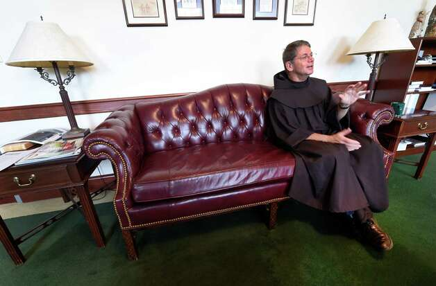 Brother F. Edward Coughlin is pictured in his office at Siena College Thursday morning, Oct. 1, 2015, in Loudonville, N.Y. (Skip Dickstein/Times Union) Photo: SKIP DICKSTEIN / 10033583A
