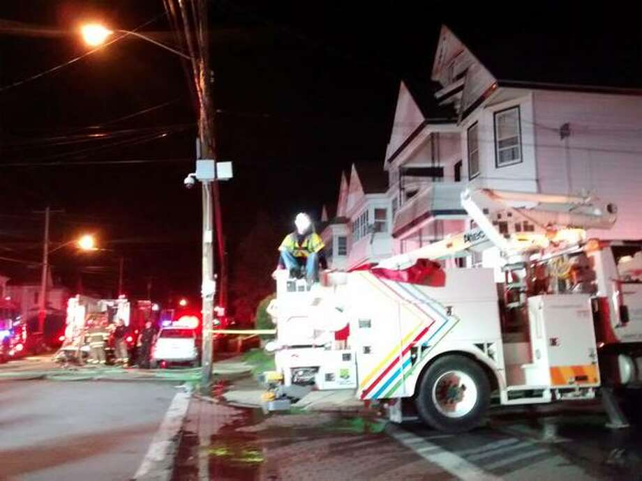The Schenectady Fire Department responded to a call for an attic fire at 1652 Van Vranken Ave. on Thursday, Oct. 1, 2015  (J.p. Lawrence/Times Union)
