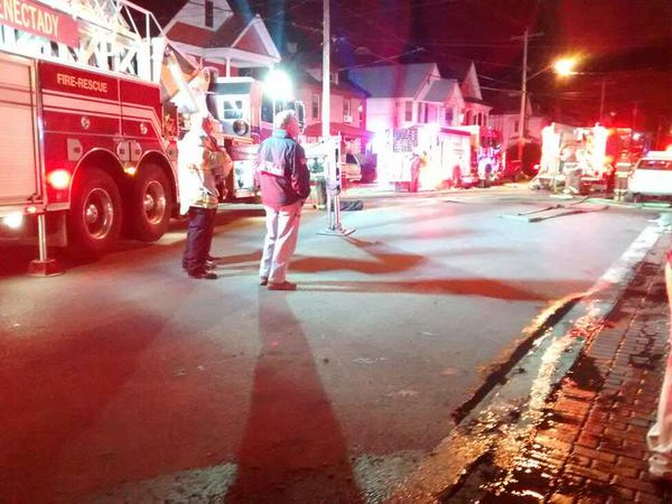 The Schenectady Fire Department responds to a call.(J.p. Lawrence/Times Union)
