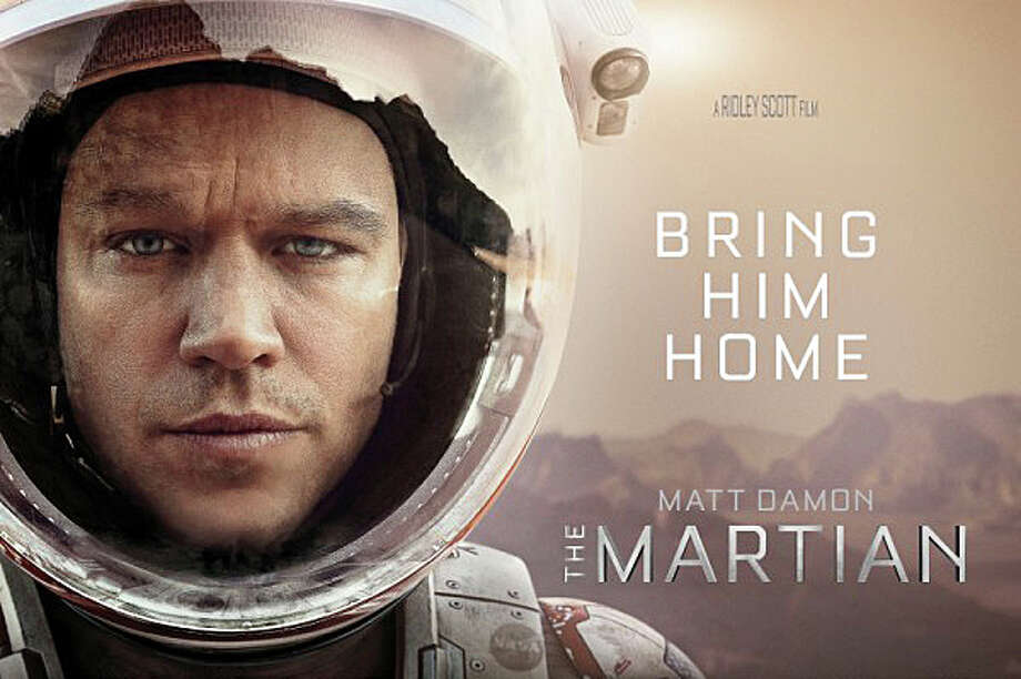 "Matt Damon stars in Ridley Scott's new movie, ""The Martian,"" about an astronaut stranded on Mars. Photo: Contributed / Contributed Photo / Westport News"