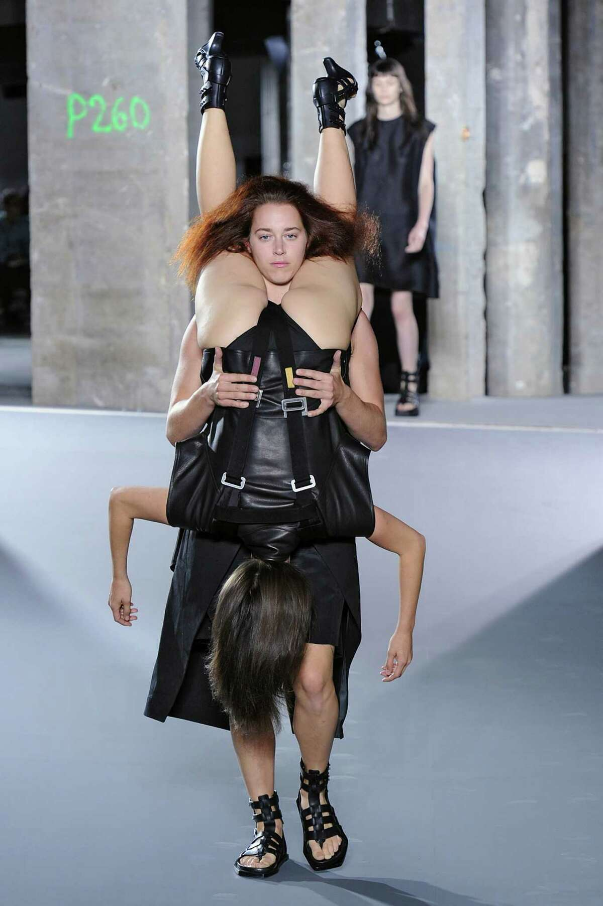 Designer Rick Owens' spring/summer 2016 just declared that people wearing people is the next big thing.