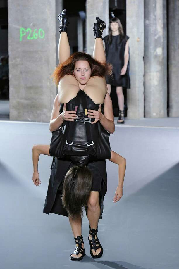 Designer Rick Owens' spring/summer 2016 just declared that people wearing people is the next big thing. Photo: Catwalking, Getty Images / 2015 Catwalking