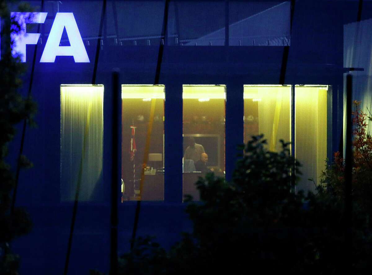 """FIFA-President Sepp Blatter sits in an office of the FIFA headquarters in Zurich, Switzerland, Tuesday, Sept. 29, 2015. Blatter told his staff on Monday he has done """"nothing illegal or improper"""" and has no immediate plans to step down."""
