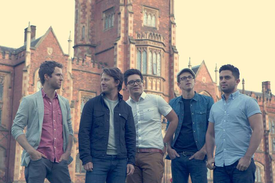 "Tenth Avenue North includes Brendon Shirley, from left, Mike Donehey, Jeff Owen, Jason Jamison and Ruben Juarez. The group's new album is ""Cathedrals."" Photo: Provident Label Group / ONLINE_YES"