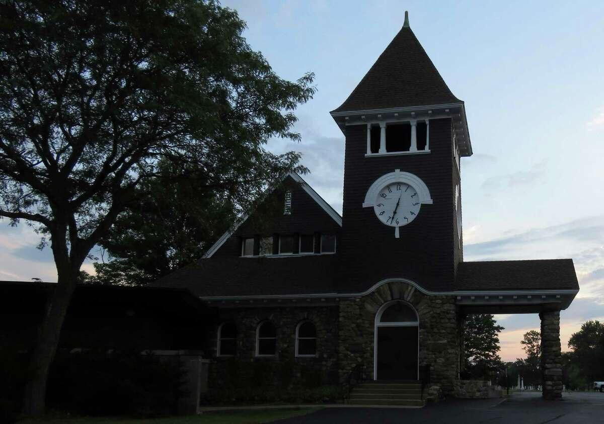 The cobblestone church in Schonowe