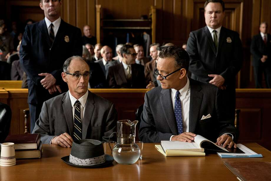 "Mark Rylance, left, as  Soviet spy Rudolf Abel and Tom Hanks as attorney James Donovan in ""Bridge of Spies"" Photo: DreamWorks Studios"