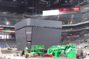 Additional leaked photos give another look at the Spurs' new scoreboard at the AT&T Center - Photo