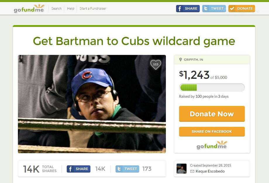 A GoFundMe campaign aims to send Steve Bartman to the playoffs.