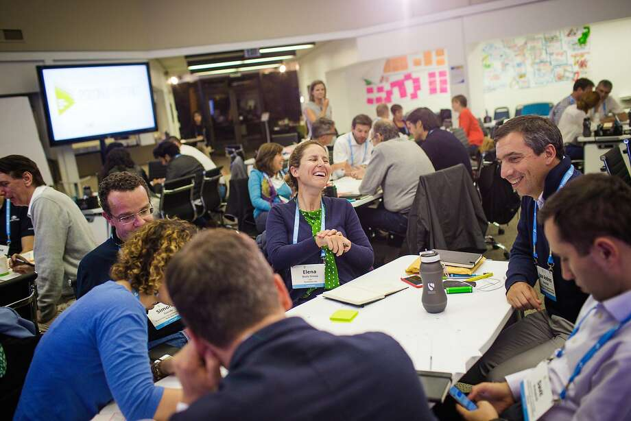 Participants in Singularity University's executive program gather for a session last week. They are urged to follow their passion. Photo: Nick Otto, Singularity University