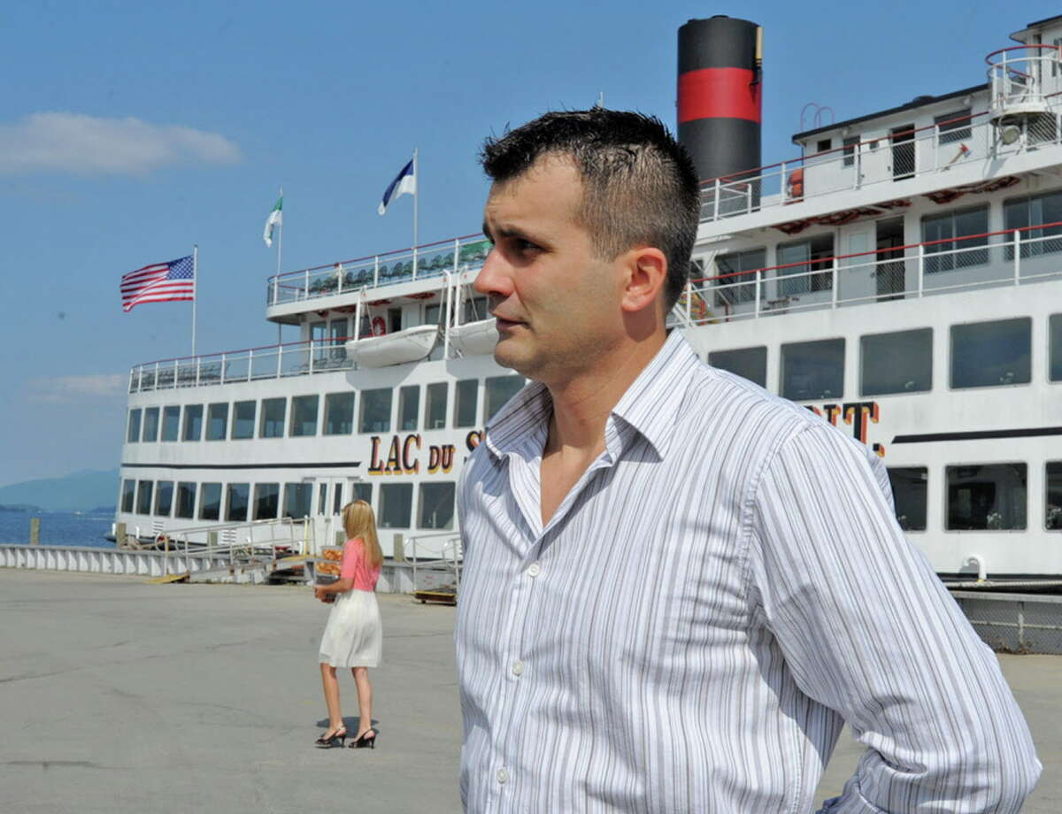 Trevor McNeice talks about the day the Ethan Allen sank on the steamboat dock at Lake George, N.Y. on Friday, Sept. 2, 2011. (Lori Van Buren / Times Union)