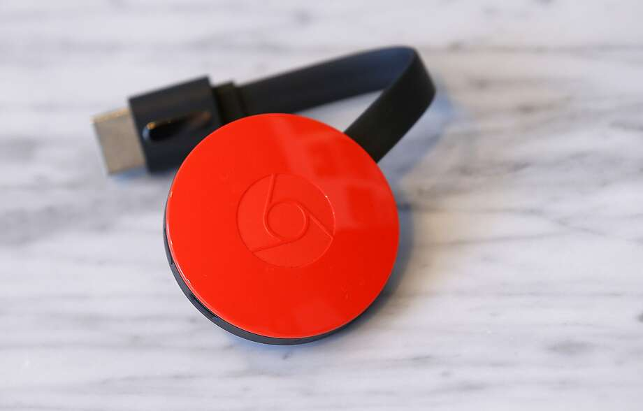 The redesigned and updated Chromecast for TV comes in different colors and works better than the old model, allowing users to download videos faster. Photo: Tony Avelar, Associated Press