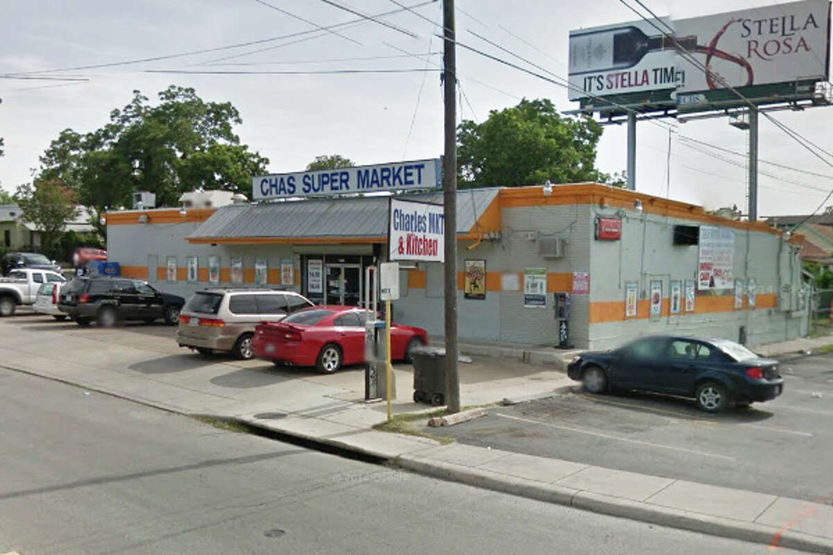 Chas Super Market:1431 North Pine St., San Antonio Date: 08/06/2018Score: 78 Highlights: Observed items stored in both kitchen hand wash sinks. Bare hands contact with ready-to-eat foods. Observed employee making tacos with bare hands. Observed raw beef blood present on and in cooked rice. Observed dishes only being washed with soap. Observed spray foam present in blue ice container.