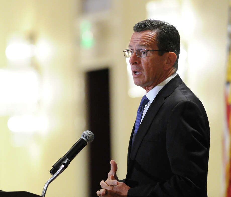 Gov. Dannel P. Malloy spoke during the 28th annual meeting of the Stamford Chamber of Commerce at the Stamford Marriott Hotel & Spa, Stamford, Conn., Thursday, Oct. 1, 2015. Photo: Bob Luckey Jr. / Hearst Connecticut Media / Greenwich Time