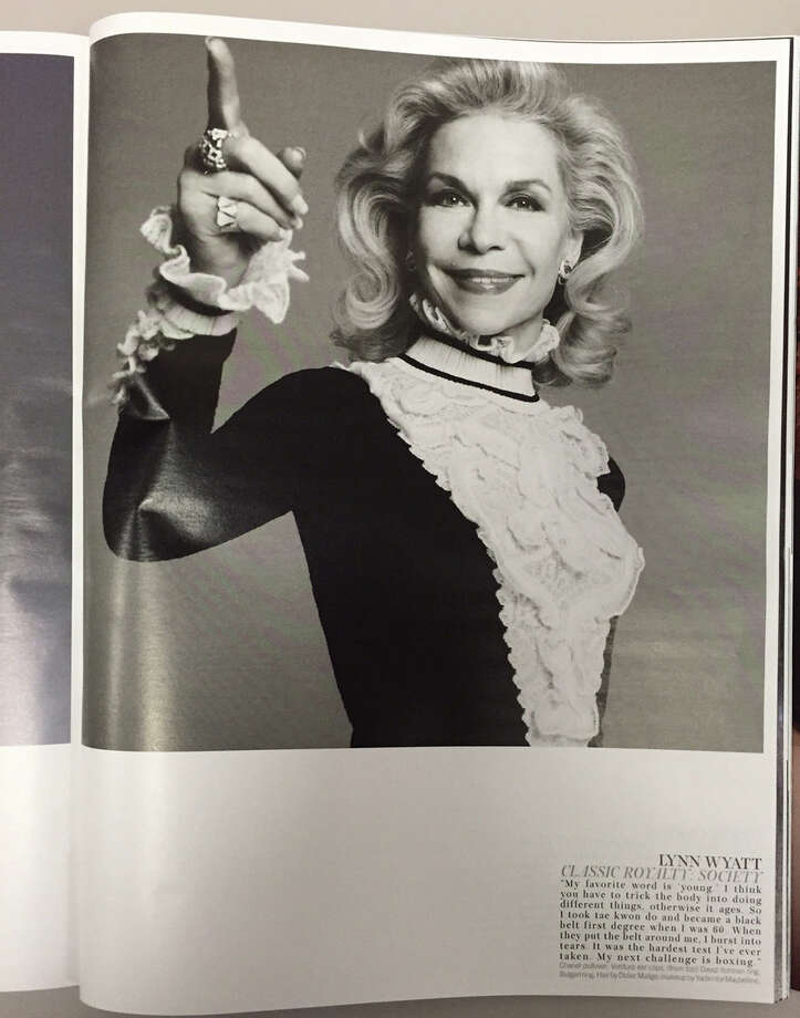 Houston philanthropist Lynn Wyatt in the October 2015 issue of W magazine. Photo: Joy Sewing