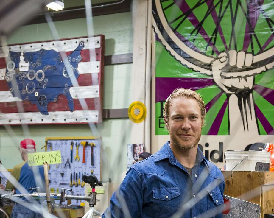 Executive Director Jimmy Hallyburton poses for a portrait in the workshop area at Boise Bicycle Project on Friday, October 2, 2015, in Boise, Idaho. Photo: Otto Kitsinger, Special To The Chronicle