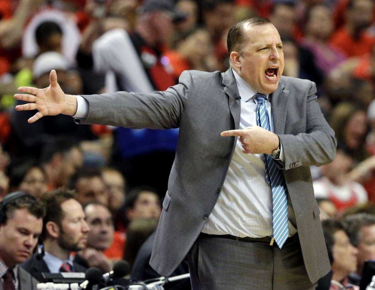 Tom Thibodeau Thibodeau is known as a defensive coach and helped the Rockets rank among the Top 5 in the league in scoring defense from 2004-07 when he was an assistant. In five seasons as the head coach of the Chicago Bulls, he went 255-139 and took them as far as the conference finals.