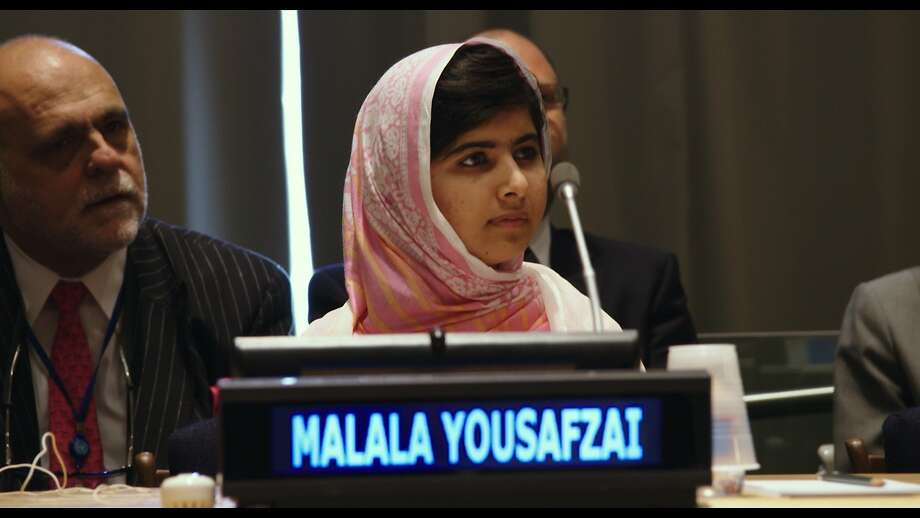 Malala Yousafzai addresses the United Nations General Assembly in 2013. Photo: Fox Searchlight