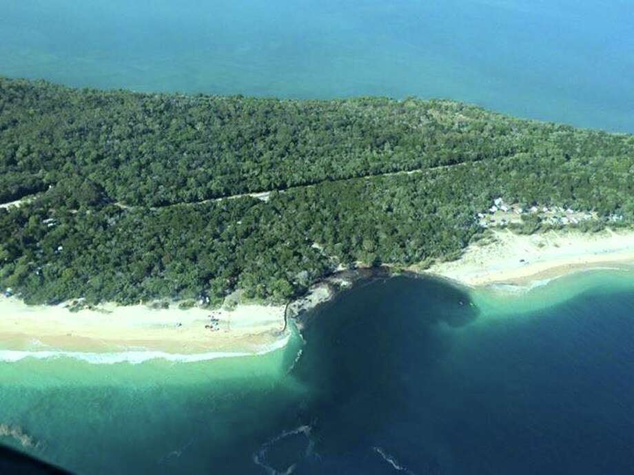 This sinkhole off the coast of Queensland, Australia, opened up on Sept. 26 while campers were in the area. Photo: Courtesy/Facebook