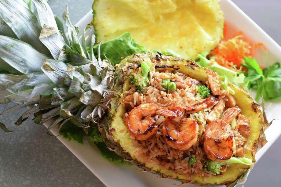 Pineapple fried rice from Saigon House, a new Vietnamese fusion restaurant at 3101 Main St., Houston Photo: Saigon House