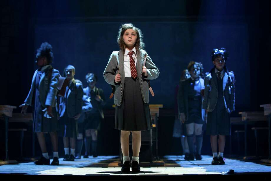 "Matilda Wormwood (Mia Sinclair Jeness) and the company in the national tour of  ""Matilda."" Matilda    Mia Sinclair Jenness  Bryce Ryness     Jenness, and Ryness will be joined by fellow principal cast members Jennifer Blood (Miss Honey), Quinn Mattfeld (Mr. Wormwood) and Cassie Silva (Mrs. Wormwood).    The ensemble will include Cal Alexander, Kayla Amistad, Cameron Burke, Brittany Conigatti, Michael Fatica, Wesley Faucher, John Michael Fiumara, Camden Gonzales, Shonica Gooden, Evan Gray, Cassidy Hagel, Meliki Hurd, Michael D. Jablonski, Luke Kolbe Mannikus, Stephanie Martignetti, Megan McGuff, Ora Jones, Justin Packard, Serena Quadrato, Aristotle Rock, Jaquez Andre Sims, Ian Michael Stuart, Danny Tieger, Kaci Walfall, Natalie Wisdom and Darius Wright. Photo: Joan Marcus / ©2015, Joan Marcus"