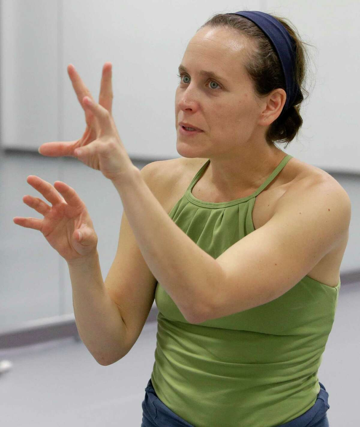 Dancer and choreographer Annie Arnoult, is shown at her studio, Hunter Dance Center, 747 N. Shepherd, Wednesday, Sept. 30, 2015, in Houston. The Houston native returned this year to open a new studio and establish her Open Dance Project here. ( Melissa Phillip /Houston Chronicle )