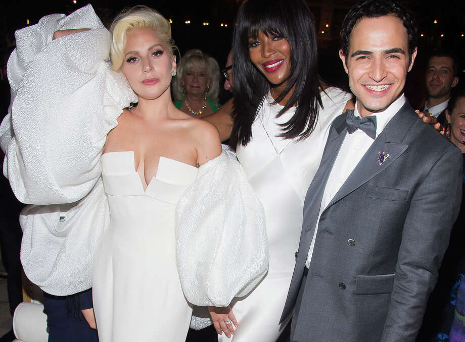 Posen, pictured with Lady Gaga, left, and Naomi Campbell Photo: Charles Sykes/Invision/AP, INVL / Invision