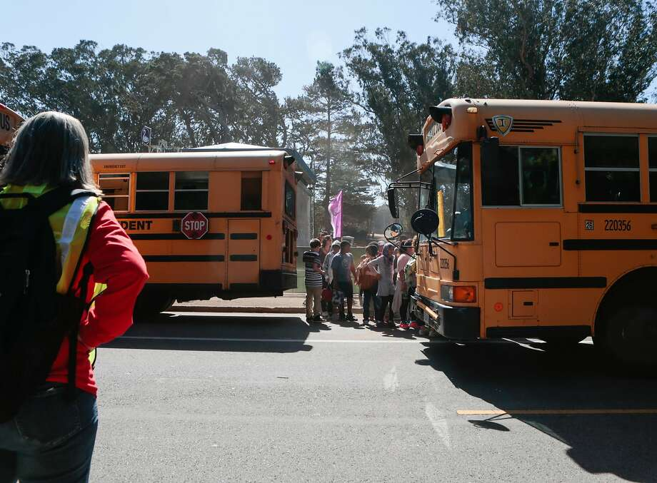 Thousands of Bay Area middle school students are entertained by Cirkus Quirkus and P.M.W. during the educational program at Hardly Strictly Bluegrass on Friday, Oct. 2, 2015 in San Francisco, Calif.  San Francisco Photo: Nathaniel Y. Downes, The Chronicle
