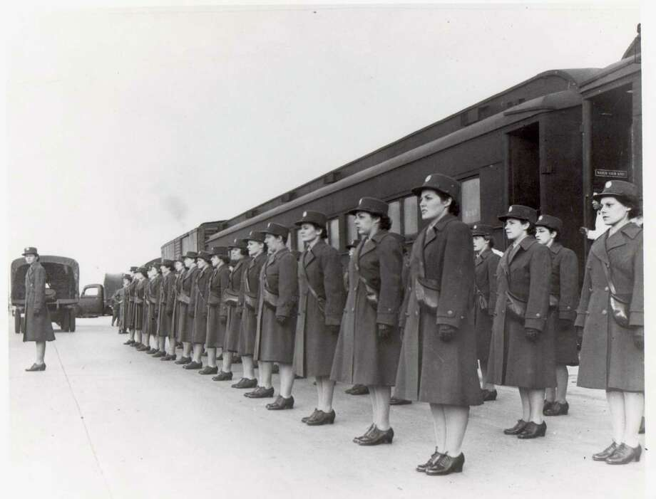"""Members of the WAACs who had trained at Fort Des Moines, Iowa, were the first such unit to deploy from Fort Des Moines and adopted their official motto, """"First in the field."""" Photo: Courtesy Fort Sam Houston Museum"""