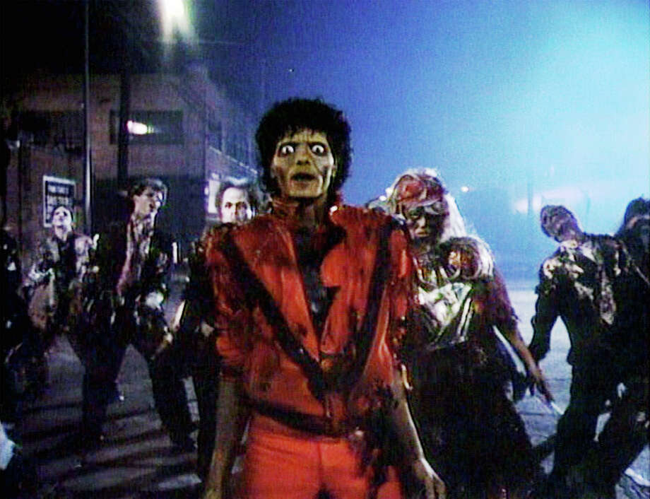 "Want to learn the basic moves to Michael Jackson's ""Thriller"" dance from his video? Rehearsals start Sunday, Oct. 18, for the annual Halloween ""flash mob"" on the New Milford Green. Photo: Contributed Photo / © 1983 Optimum Productions. Credit: © 1983 Optimum Prod. / Flickr / Courtesy Pikturz.  Image intended only for use to help promo"
