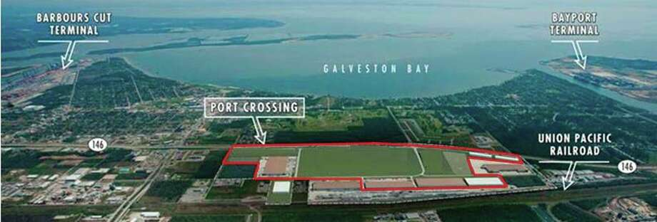 The purchase is west of Texas 146 along the rail line, south of Fairmont Parkway, between Barbours Cut and Bayport container terminals at the Port of Houston.