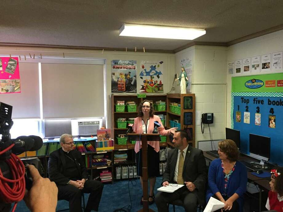 Leaders from the Albany Cathlolic Diocese announced Friday, Oct. 2, 2015, that its schools are stepping back from some Common Core-aligned assessment tests. (Bethany Bump/Times Union)